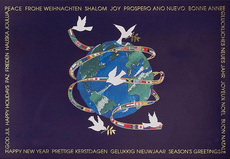 peace on earth happy new year card